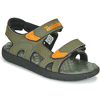 鞋子 儿童 凉鞋 Timberland 添柏岚 PERKINS ROW 2-STRAP 绿色 / 橙色