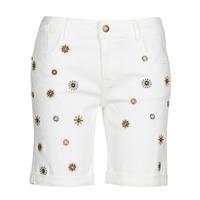 衣服 女士 短裤&百慕大短裤 Desigual GRECIA 白色
