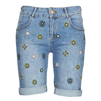 衣服 女士 短裤&百慕大短裤 Desigual GRECIA 蓝色