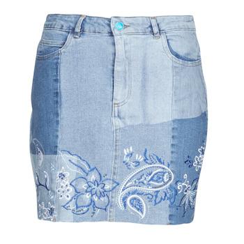 衣服 女士 半身裙 Desigual BE BLUE 蓝色
