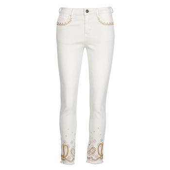 衣服 女士 紧身牛仔裤 Desigual PAISLEY 白色