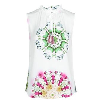 衣服 女士 无领短袖套衫/无袖T恤 Desigual ROSEN 白色