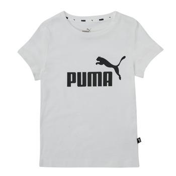 衣服 女孩 短袖体恤 Puma 彪马 ESS TEE 白色