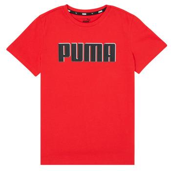 衣服 男孩 短袖体恤 Puma 彪马 ALPHA GRAF TEE 红色
