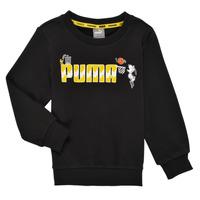 衣服 男孩 卫衣 Puma 彪马 SNOOPY PEANUTS CREW 黑色