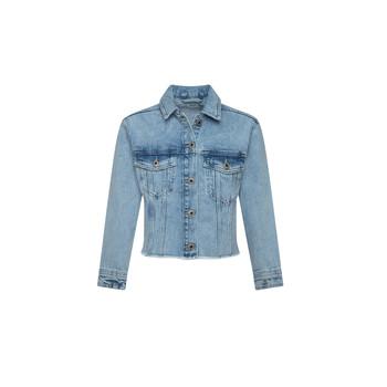 衣服 女孩 牛仔外套 Pepe jeans NICOLE JACKET 蓝色