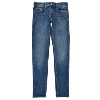 衣服 男孩 牛仔铅笔裤 Pepe jeans FINLY 蓝色