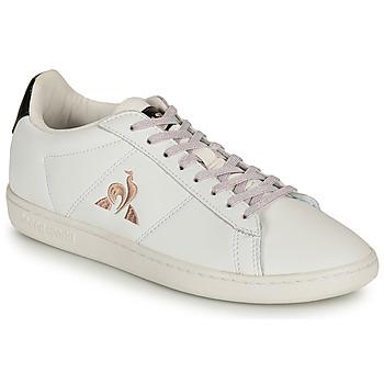 鞋子 女士 球鞋基本款 Le Coq Sportif 乐卡克 COURTSET 白色 / 黑色