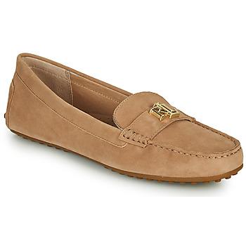 鞋子 女士 皮便鞋 Lauren Ralph Lauren BARNSBURY FLATS CASUAL 米色