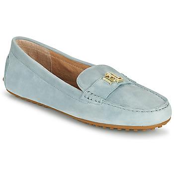 鞋子 女士 皮便鞋 Lauren Ralph Lauren BARNSBURY FLATS CASUAL 蓝色 / 天蓝