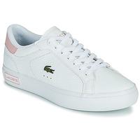鞋子 女士 球鞋基本款 Lacoste POWERCOURT 0721 2 SFA 白色 / 玫瑰色