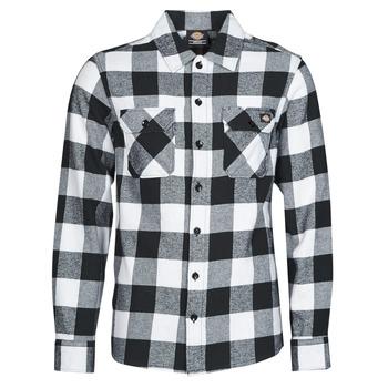 衣服 男士 长袖衬衫 Dickies 迪凯思 NEW SACRAMENTO SHIRT BLACK 黑色 / 白色