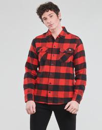 衣服 男士 长袖衬衫 Dickies 迪凯思 NEW SACRAMENTO SHIRT RED 红色 / 黑色