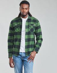 衣服 男士 长袖衬衫 Dickies 迪凯思 NEW SACRAMENTO SHIRT PINE GREEN 卡其色 / 黑色