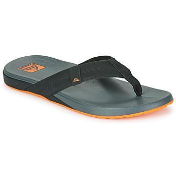 鞋子 男士 人字拖 Reef CUSHION PHANTOM 黑色 / 橙色