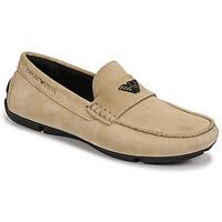 鞋子 男士 皮便鞋 Emporio Armani ITOLIA 米色