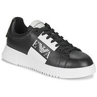 鞋子 男士 球鞋基本款 Emporio Armani MALTA 黑色 / 白色