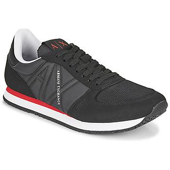 鞋子 男士 球鞋基本款 EMPORIO ARMANI EAX ESPACIA 黑色 / 红色