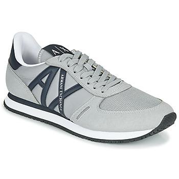 鞋子 男士 球鞋基本款 EMPORIO ARMANI EAX ESPACIA 灰色