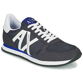 鞋子 男士 球鞋基本款 EMPORIO ARMANI EAX ESPACIA 蓝色 / 海蓝色