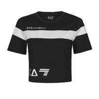 衣服 女士 短袖体恤 EA7 EMPORIO ARMANI 3KTT05-TJ9ZZ-1200 黑色 / 白色