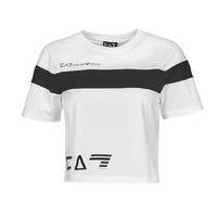 衣服 女士 短袖体恤 EA7 EMPORIO ARMANI 3KTT05-TJ9ZZ-1100 白色 / 黑色