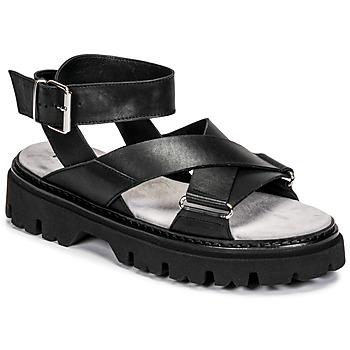 鞋子 女士 凉鞋 Fru.it 6757-100-NERO 黑色