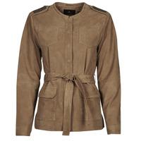 衣服 女士 皮夹克/ 人造皮革夹克 One Step DITA 棕色