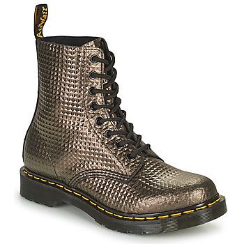 鞋子 女士 短筒靴 Dr Martens 1460 PASCAL 灰褐色 / 金色
