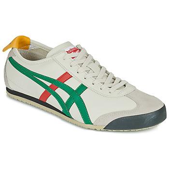 鞋子 球鞋基本款 Onitsuka Tiger 鬼冢虎 MEXICO 66 白色 / 绿色 / 红色