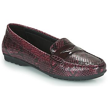 鞋子 女士 皮便鞋 Geox 健乐士 D ELIDIA 波尔多红