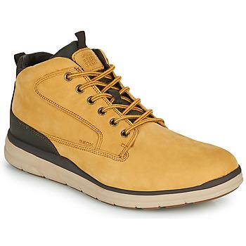 鞋子 男士 高帮鞋 Geox 健乐士 U HALLSON 棕色