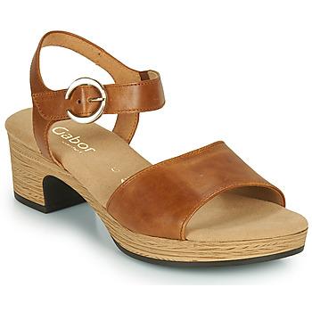 鞋子 女士 凉鞋 Gabor 嘉宝 6272153 驼色
