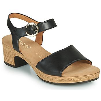 鞋子 女士 凉鞋 Gabor 嘉宝 6272157 黑色