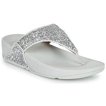 鞋子 女士 人字拖 FitFlop LULU GLITTER 银灰色