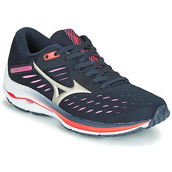 鞋子 女士 跑鞋 Mizuno 美津浓 WAVE RIDER 24 紫罗兰 / 玫瑰色