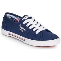 鞋子 女士 球鞋基本款 Pepe jeans ABERLADY ECOBASS 海蓝色