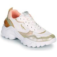 鞋子 女士 球鞋基本款 Pepe jeans ECCLES TOP 白色 / 金色