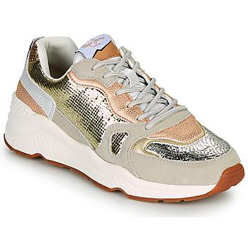 鞋子 女士 球鞋基本款 Pepe jeans HARLOW GOLDEN 米色 / 金色