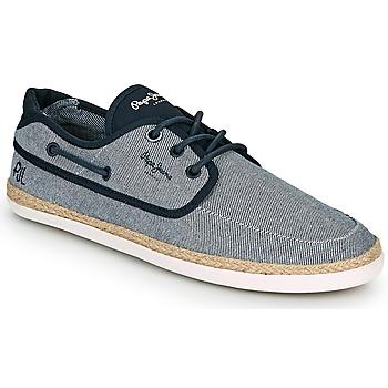 鞋子 男士 帆布便鞋 Pepe jeans MAUI BOAT CHAMBRAY 海蓝色 / 灰色