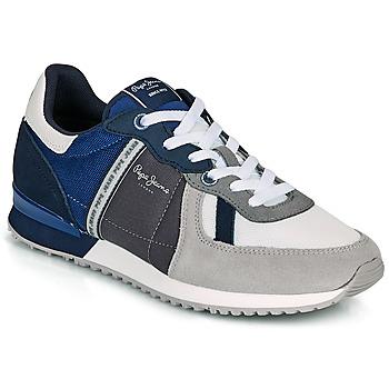 鞋子 男士 球鞋基本款 Pepe jeans TINKER ZERO 21 灰色 / 蓝色