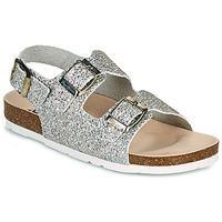 鞋子 女孩 凉鞋 Pepe jeans BIO BASIC GLITTER 银色 / 金色