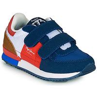 鞋子 男孩 球鞋基本款 Pepe jeans SYDNEY TREND BOY KIDS SS21 蓝色 / 红色