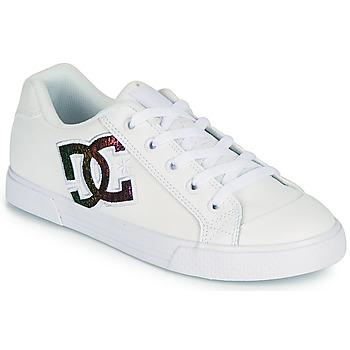 鞋子 女士 板鞋 DC Shoes CHELSEA J 白色 / 玫瑰色