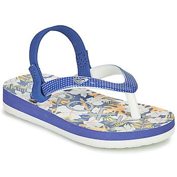 鞋子 女孩 人字拖 Roxy 罗克西 TW PEBBLES VI 蓝色