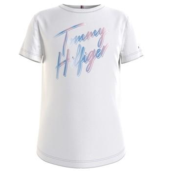 衣服 女孩 短袖体恤 Tommy Hilfiger KG0KG05870-YBR 白色