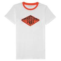 衣服 男孩 短袖体恤 Guess L1GI09-K8HM0-TWHT 白色