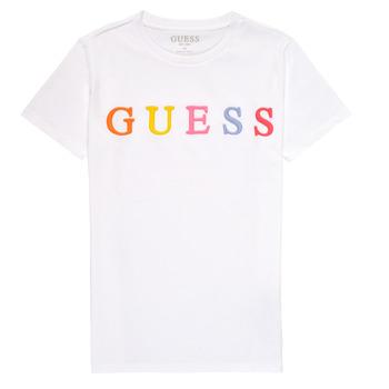衣服 女孩 短袖体恤 Guess H1RJ04-K8HM0-TWHT 白色