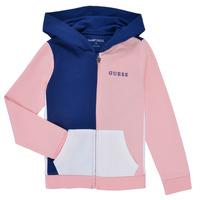 衣服 女孩 卫衣 Guess K1RQ00-KA6R0-F672 白色 / 玫瑰色