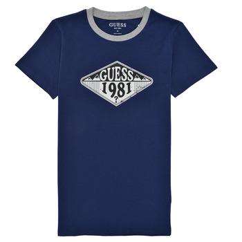 衣服 男孩 短袖体恤 Guess L1GI09-K8HM0-DEKB 海蓝色